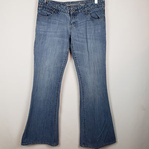 American Eagle Womens Real Flare Jeans Light Wash